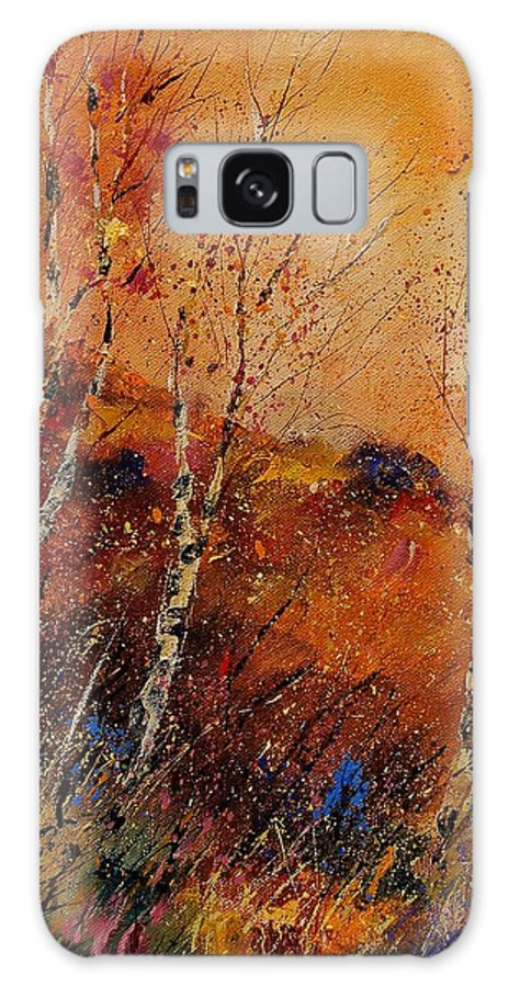 Tree Galaxy S8 Case featuring the painting Autumn Landscape 45 by Pol Ledent