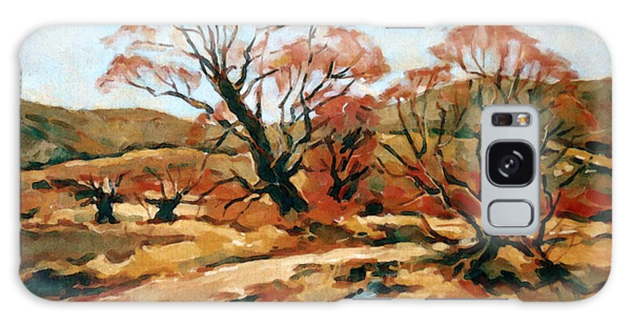 Landscape Galaxy S8 Case featuring the painting Autumn Landscape by Iliyan Bozhanov