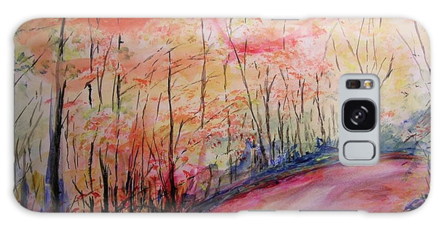 Landsape Galaxy Case featuring the painting Autumn Lane II by Lizzy Forrester