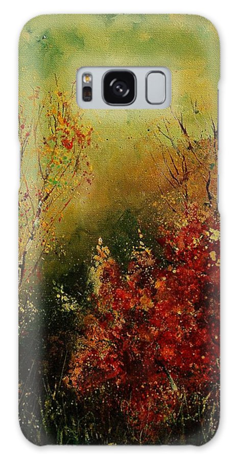 Tree Galaxy S8 Case featuring the painting Autumn Lanfscape by Pol Ledent