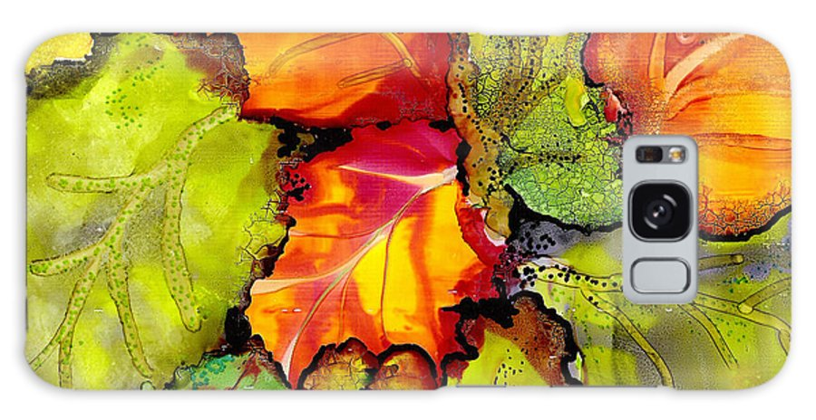 Leaves Galaxy S8 Case featuring the painting Autumn Leaves by Susan Kubes