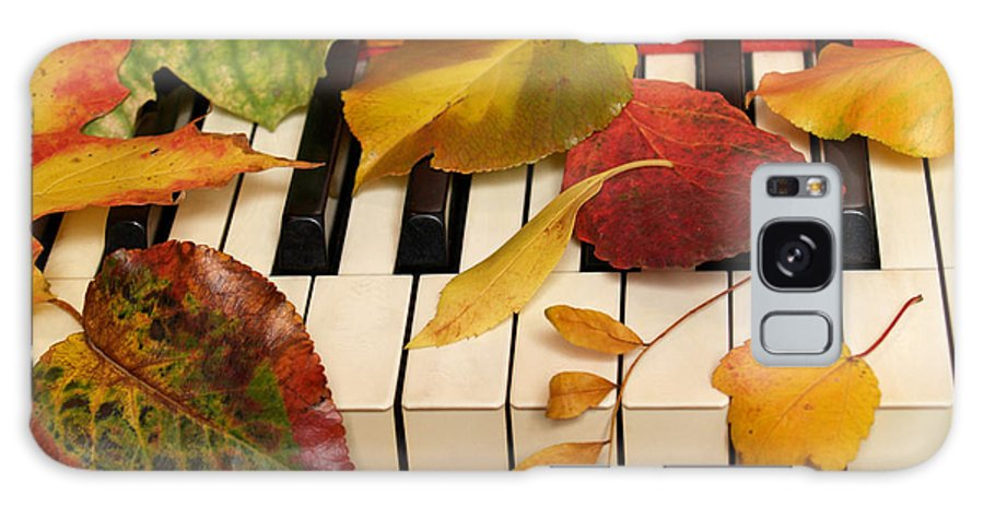 Piano Galaxy S8 Case featuring the photograph Autumn Leaves Tickle The Ivories by Anna Lisa Yoder