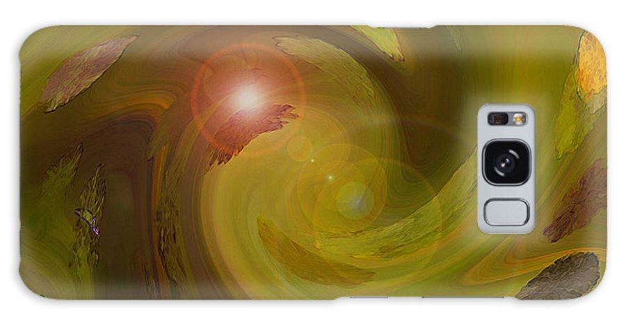 Digital Painting Abstract Galaxy Case featuring the digital art Autumn Light by Linda Sannuti