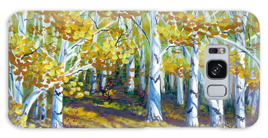 Autumn Galaxy S8 Case featuring the painting Autumn Light by Sharon Marcella Marston
