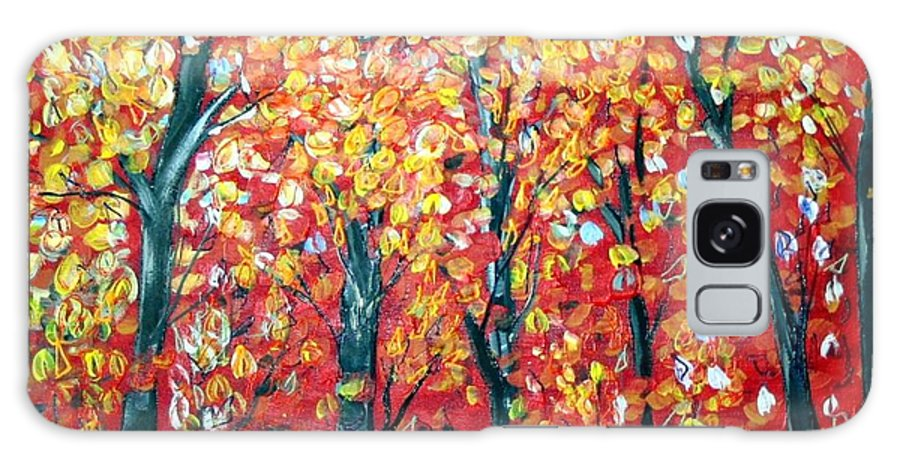 Landscape Galaxy S8 Case featuring the painting Autumn by Luiza Vizoli