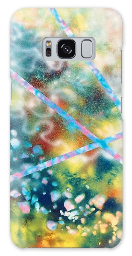 Abstract Galaxy S8 Case featuring the painting Autumn by Micah Guenther