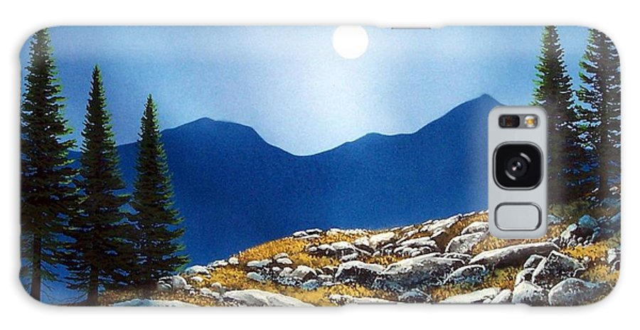 Landscape Galaxy S8 Case featuring the painting Autumn Moon by Frank Wilson