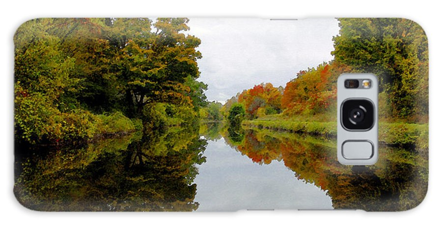Eire Canal New York Galaxy S8 Case featuring the painting Autumn On The Erie Canal by David Lee Thompson