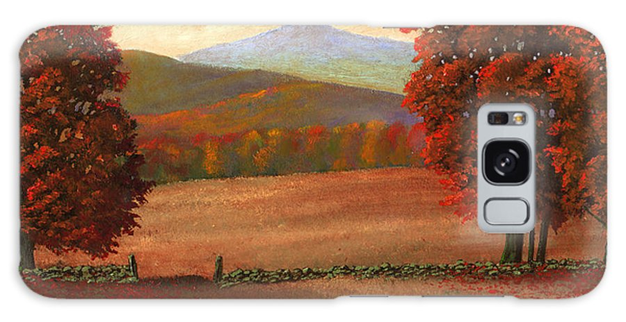 Autumn Galaxy S8 Case featuring the painting Autumn Pastures by Frank Wilson