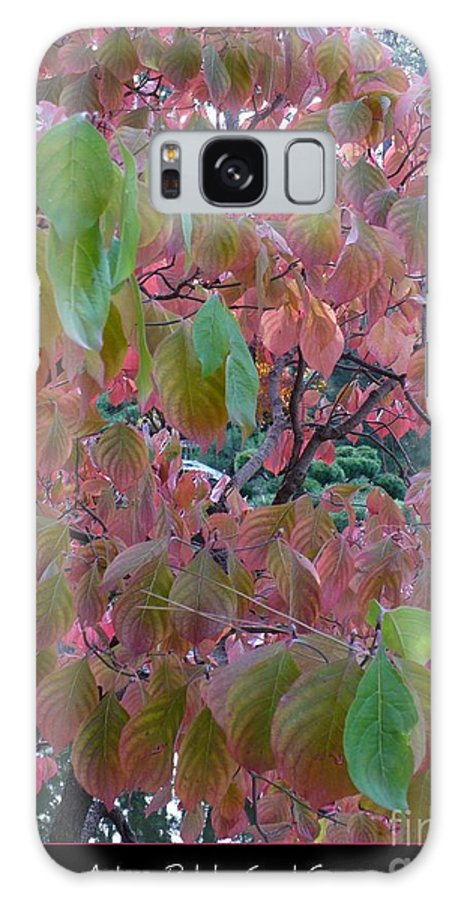 Fall Galaxy S8 Case featuring the photograph Autumn Pink Poster by Carol Groenen