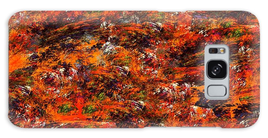 Abstract Digital Painting Galaxy S8 Case featuring the digital art Autumn Riot by David Lane