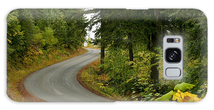 Road Galaxy Case featuring the photograph Autumn Road by Idaho Scenic Images Linda Lantzy