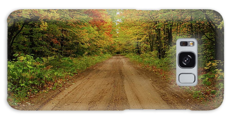 Autumn Galaxy S8 Case featuring the photograph Autumn Road by Michael Peychich