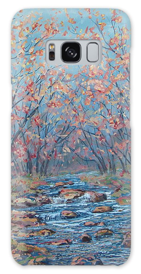 Landscape Galaxy S8 Case featuring the painting Autumn Serenity by Leonard Holland
