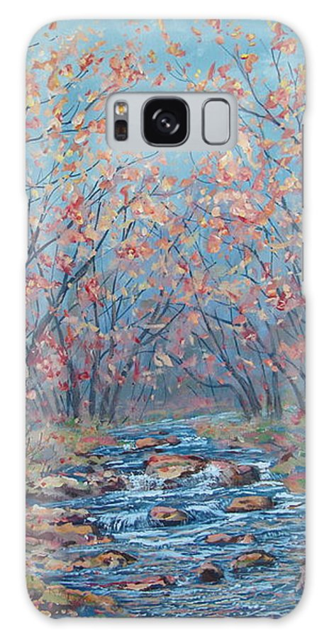 Landscape Galaxy Case featuring the painting Autumn Serenity by Leonard Holland