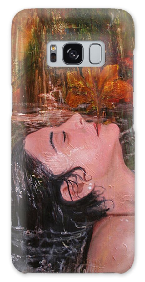 Beautiful Galaxy S8 Case featuring the painting Autumn Showers by Alan Schwartz