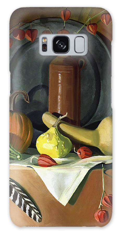 Still Life Galaxy S8 Case featuring the painting Autumn Still Life by Nancy Griswold