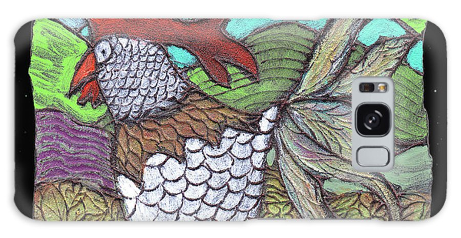 Chicken Galaxy S8 Case featuring the painting Autumn Strut by Wayne Potrafka