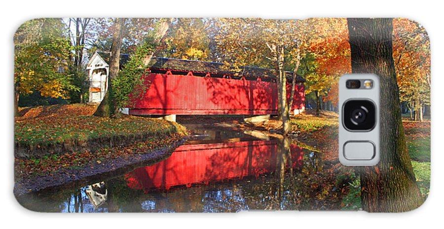 Covered Bridge Galaxy S8 Case featuring the photograph Autumn Sunrise Bridge II by Margie Wildblood