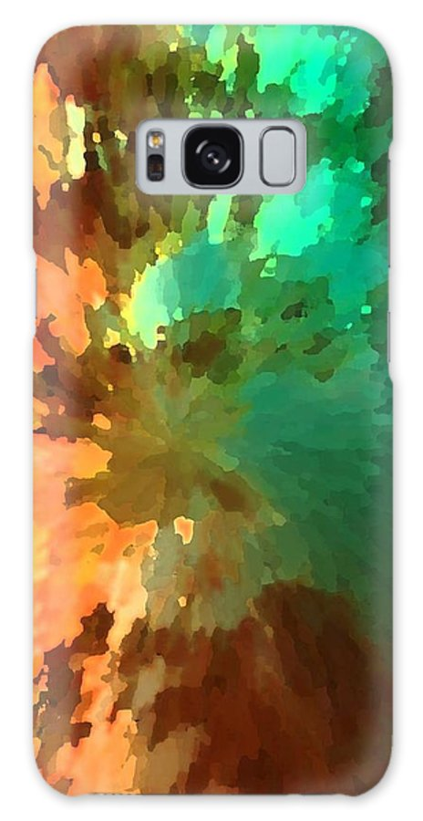 Abstract Galaxy Case featuring the painting Autumn Surprise by Florene Welebny