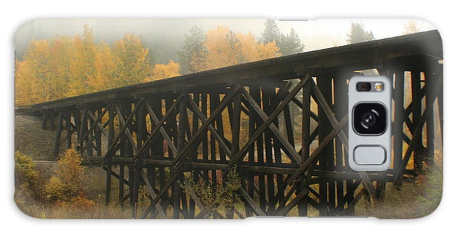 Trestle Galaxy S8 Case featuring the photograph Autumn Trestle by Idaho Scenic Images Linda Lantzy
