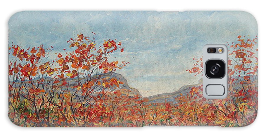 Paintings Galaxy S8 Case featuring the painting Autumn View. by Leonard Holland