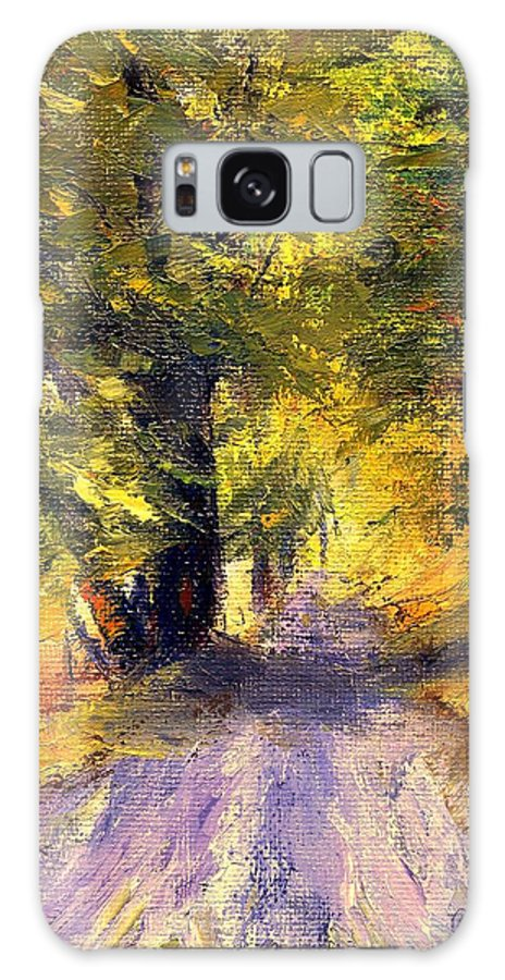 Autumn Galaxy Case featuring the painting Autumn Walk by Gail Kirtz