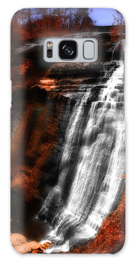 Autumn Galaxy S8 Case featuring the photograph Autumn Waterfall 3 by Kenneth Krolikowski
