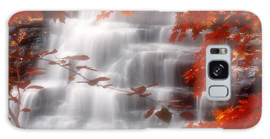 Autumn Galaxy S8 Case featuring the photograph Autumn Waterfall I by Kenneth Krolikowski