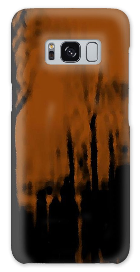 Trees.street.rain.clouds.wet People.the Naked Branches Of The Trees.the Gloomy Light. Galaxy S8 Case featuring the digital art Autumn Wet Day by Dr Loifer Vladimir