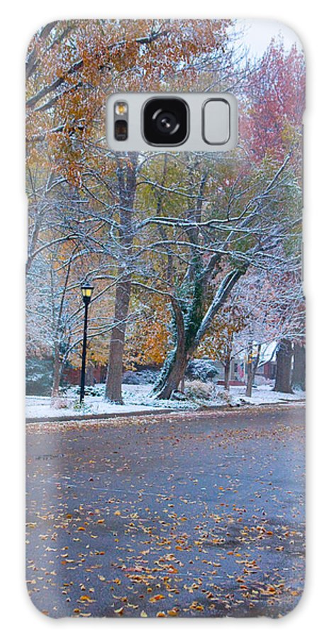 Street Galaxy S8 Case featuring the photograph Autumn Winter Street Light Color by James BO Insogna