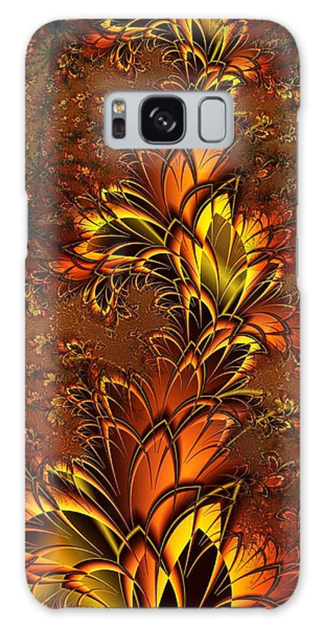 Digital Art Galaxy S8 Case featuring the digital art Autumnal Glow by Amanda Moore