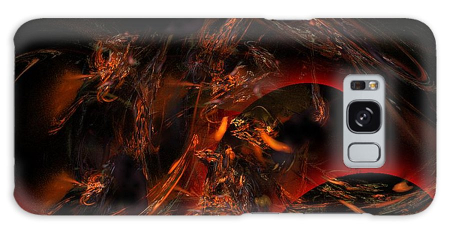 Abstract Digital Painting Galaxy S8 Case featuring the digital art Autums Winds 2 by David Lane