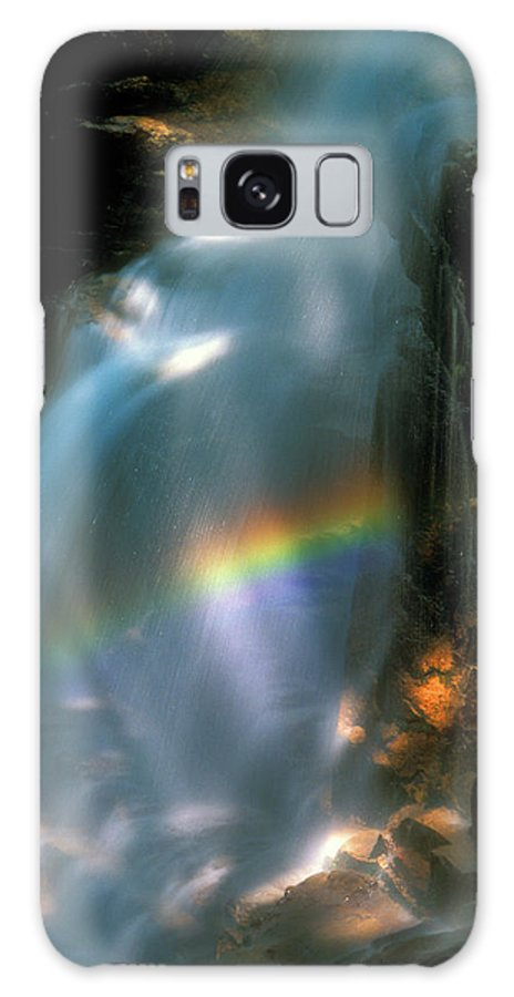 Waterfall Galaxy S8 Case featuring the photograph Avalanche Falls Rainbow Flume Gorge by John Burk