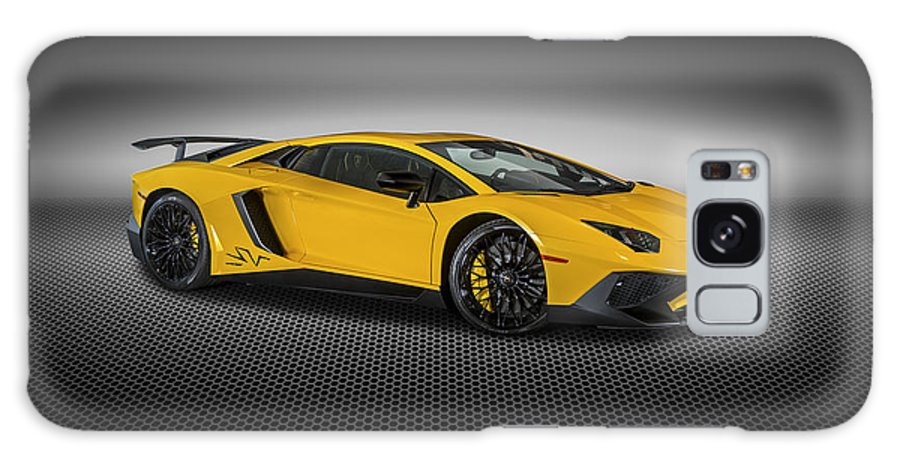 Lamborghini Galaxy S8 Case featuring the photograph Aventador Lp 750-4 Sv New Giallo Orion by Bill Brock