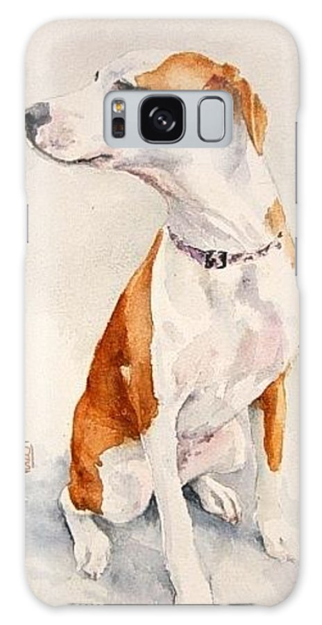 Dog Galaxy Case featuring the painting Aviator by Debra Jones