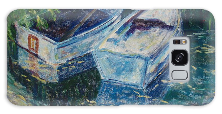 Monets Gardens Galaxy Case featuring the painting Awaiting by Tara Moorman