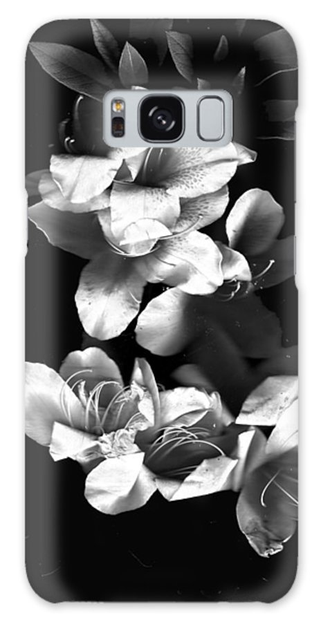 Azaela Galaxy S8 Case featuring the photograph Azaela Blossom In Black And White by Wayne Potrafka