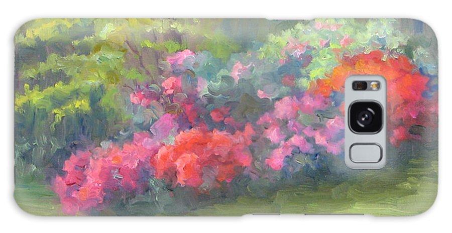 Azaleas Galaxy S8 Case featuring the painting Azalea Garden by Bunny Oliver