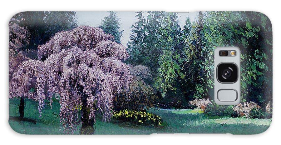 Landscape Galaxy S8 Case featuring the painting Azalea Way Morning by Paul Illian