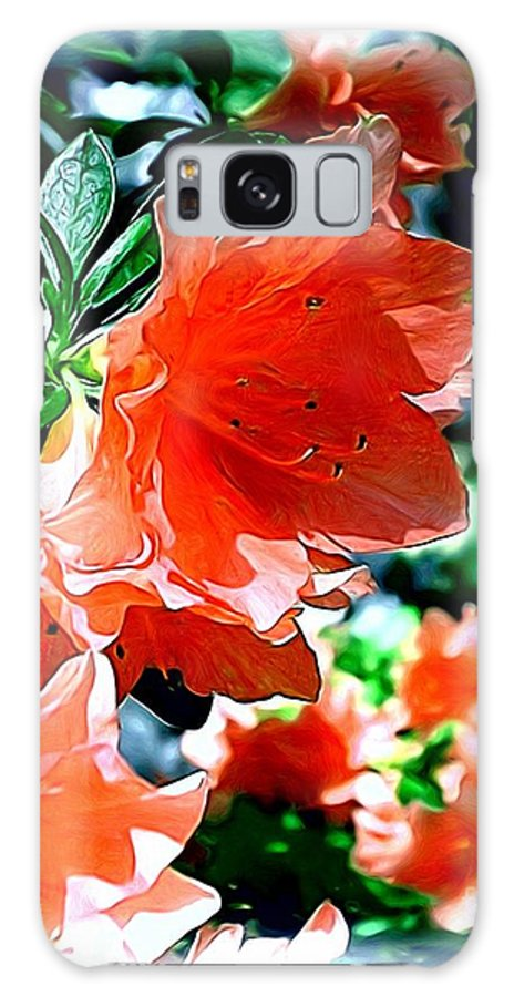 Fine Art Galaxy S8 Case featuring the painting Azaleas In The Spring by Patricia Griffin Brett