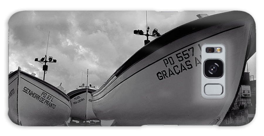 Azoren Galaxy S8 Case featuring the photograph Azorean Fishing Boats by Gaspar Avila