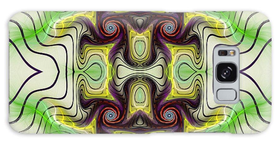 Aztec Galaxy S8 Case featuring the mixed media Aztec Art Design by Deborah Benoit