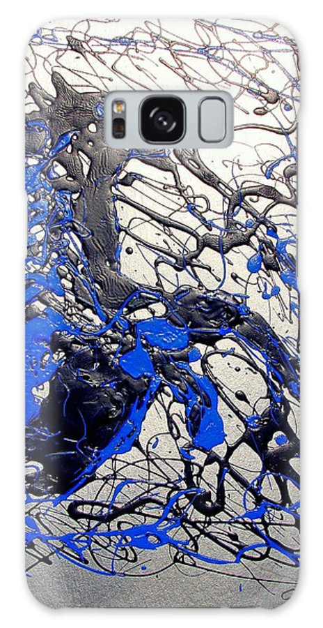 Stallion Horse Galaxy Case featuring the painting Azul Diablo by J R Seymour
