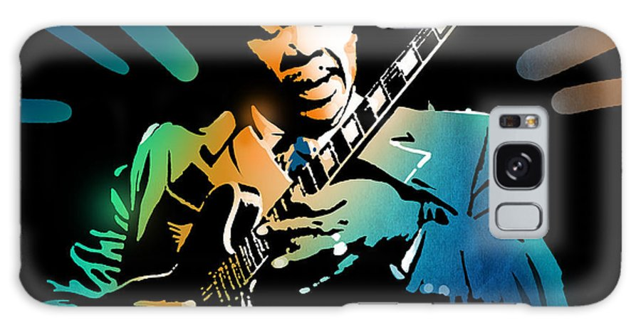 Blues Galaxy S8 Case featuring the painting B B King by Paul Sachtleben