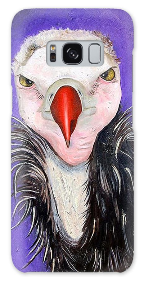 Vulture Galaxy S8 Case featuring the painting Baby Vulture by Leah Saulnier The Painting Maniac