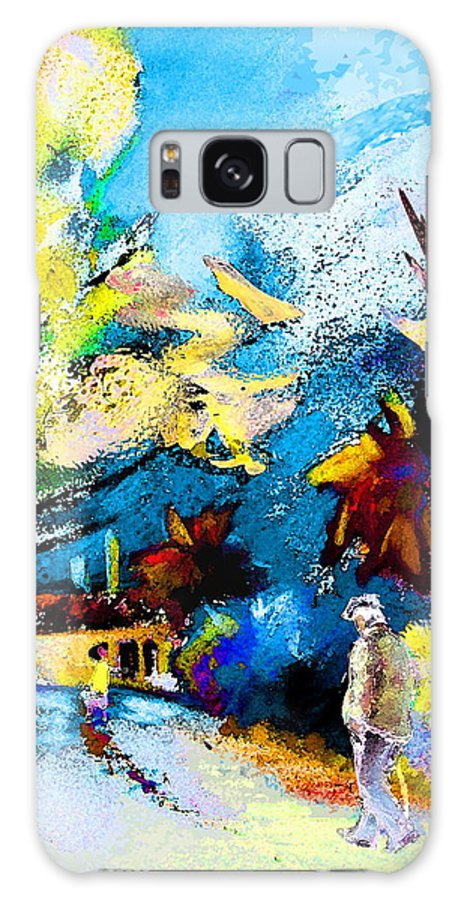Pastel Painting Galaxy Case featuring the painting Back Home by Miki De Goodaboom