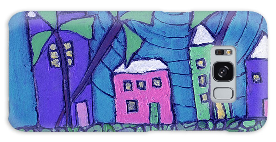 Whimsical Galaxy Case featuring the painting Back Home On The Island by Wayne Potrafka