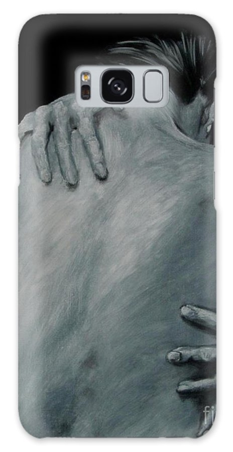 Nude Galaxy Case featuring the painting Back Of Naked Woman by Jindra Noewi