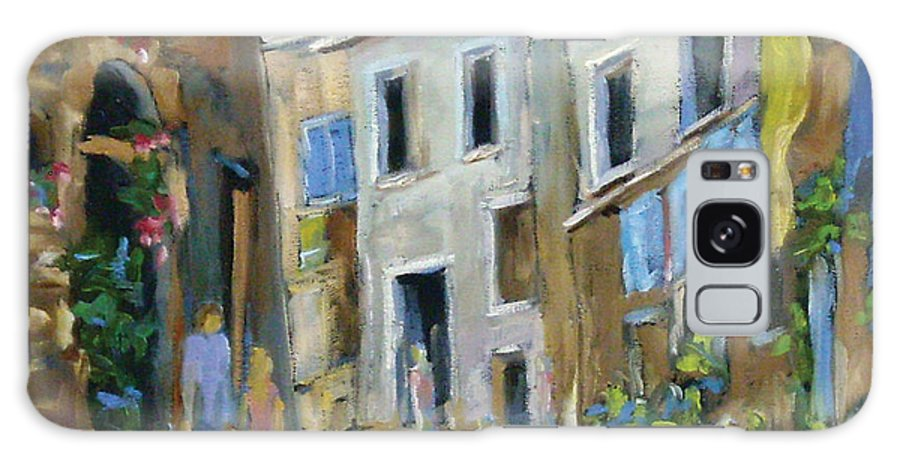Urban Galaxy S8 Case featuring the painting Back Street by Richard T Pranke